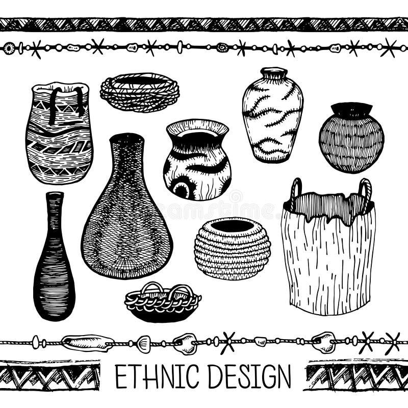Download 套手绘图墨北美商品印地安人  在当地样式明信片的,纹身花刺设计的元素 向量例证 - 插画 包括有 例证, 镇痛药: 72361002