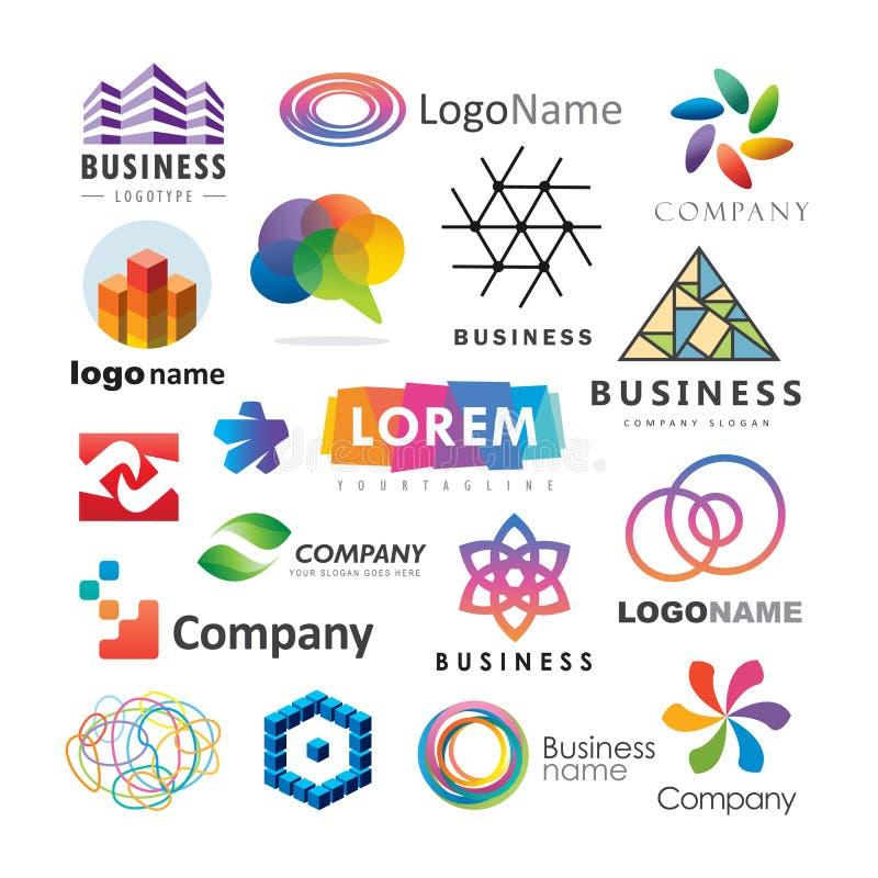 套抽象企业商标 向量例证