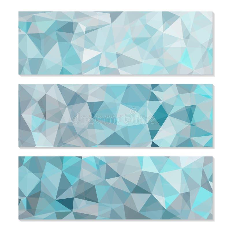 套抽象几何多角形背景 库存例证