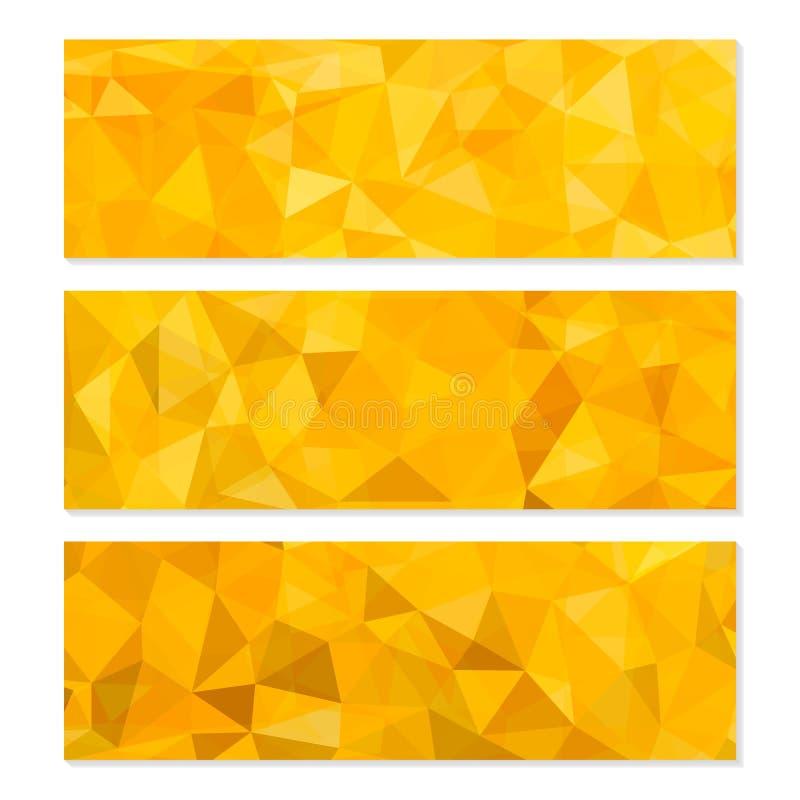 套抽象几何多角形背景 皇族释放例证