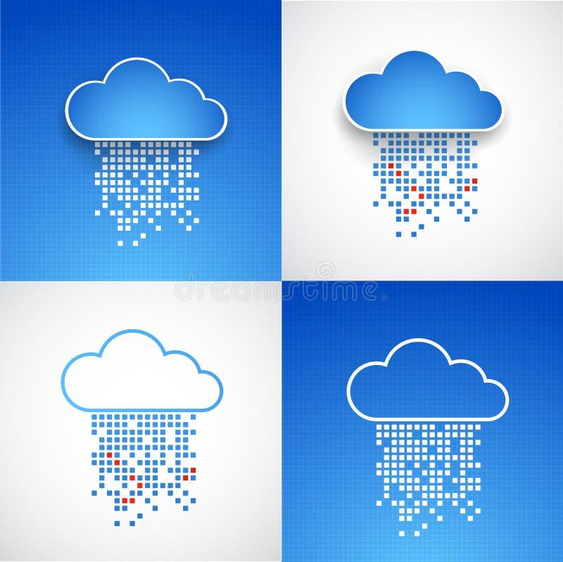套抽象技术云彩题材背景 向量例证
