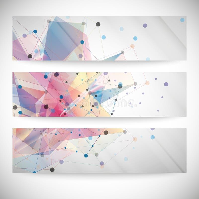 套摘要色的背景,三角 向量例证