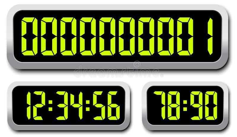 套数字式编号 背景读秒设计例证定时器白色 皇族释放例证