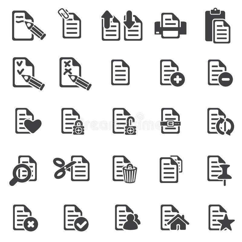 套文件图标 库存例证