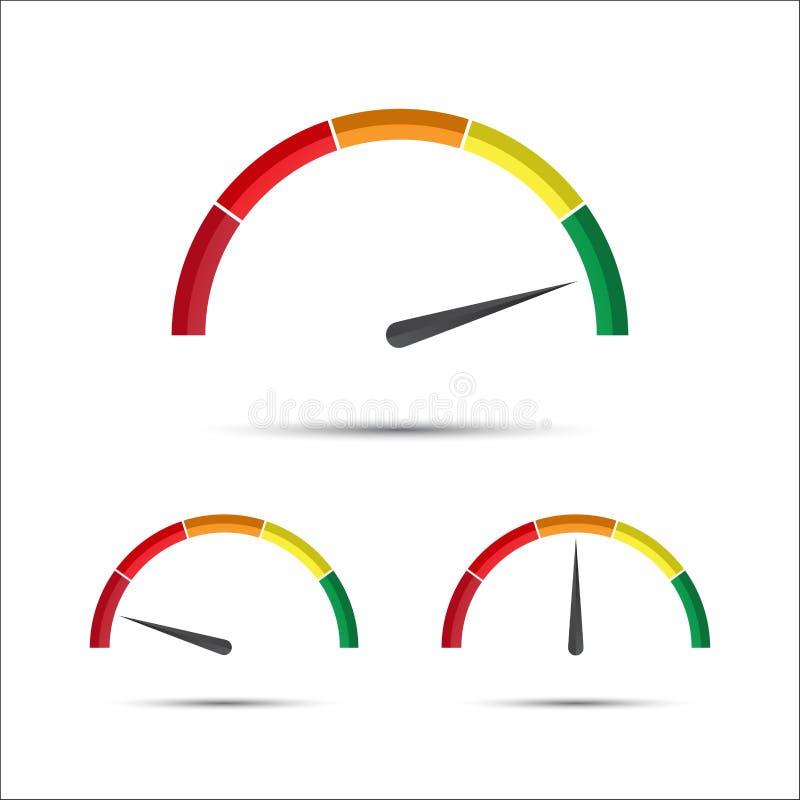 套有显示的简单的传染媒介车头表以绿色 库存例证