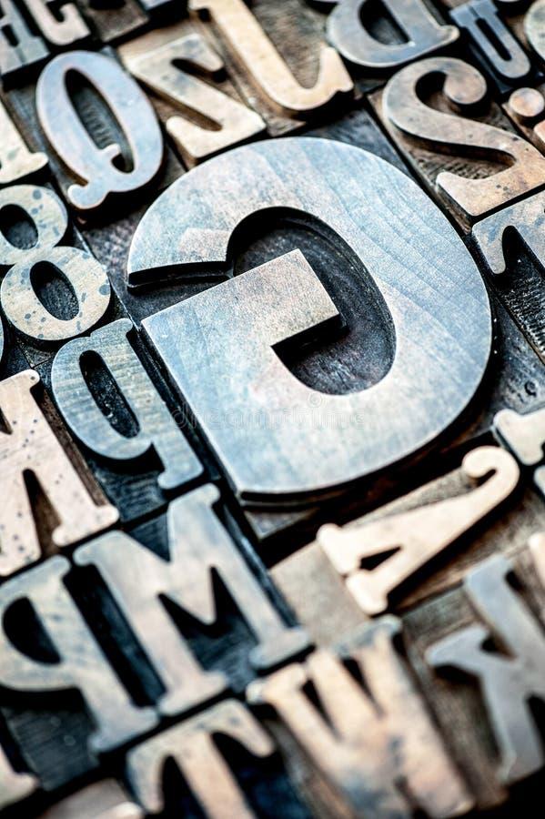 套木印刷信件和数字 图库摄影