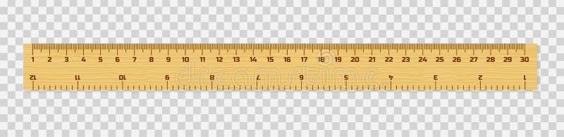 套木统治者与在白色隔绝的阴影的15, 20和30厘米 评定的工具 接近的指南针分度器学校用品 向量例证