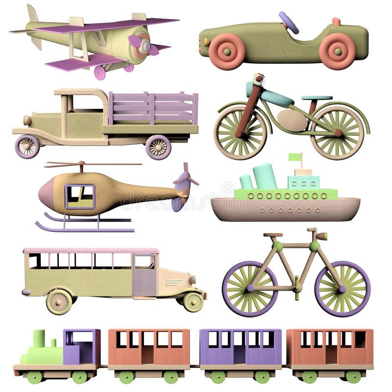 套木运输玩具 皇族释放例证