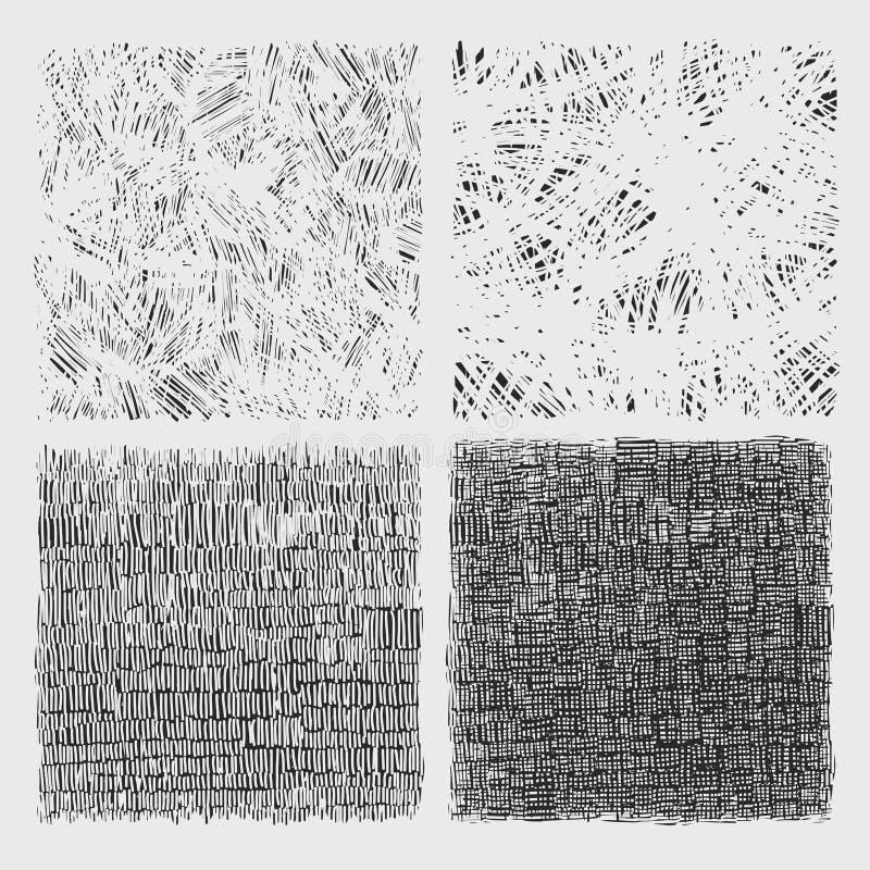 套概略的孵化图画纹理传染媒介 库存例证