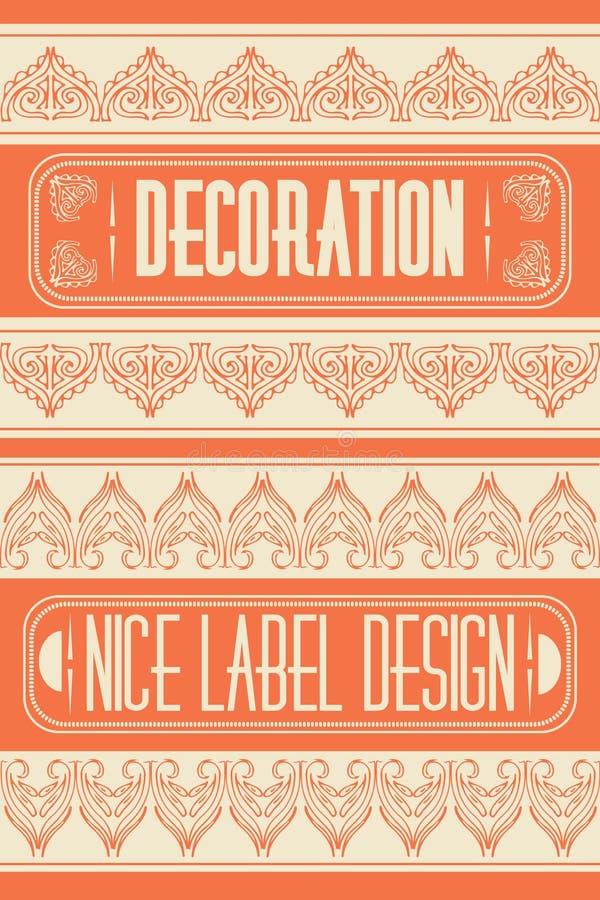 套概述框架、象征和徽章 抽象行家商标模板 单音线图形设计模板 皇族释放例证