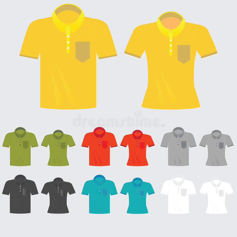 套模板上色了男人和妇女的球衣 向量例证