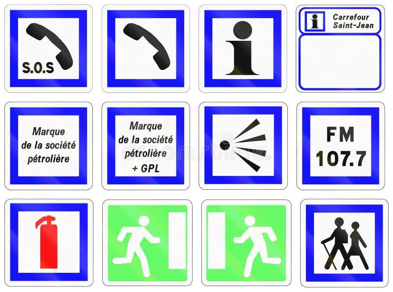 套法国信息路标 向量例证
