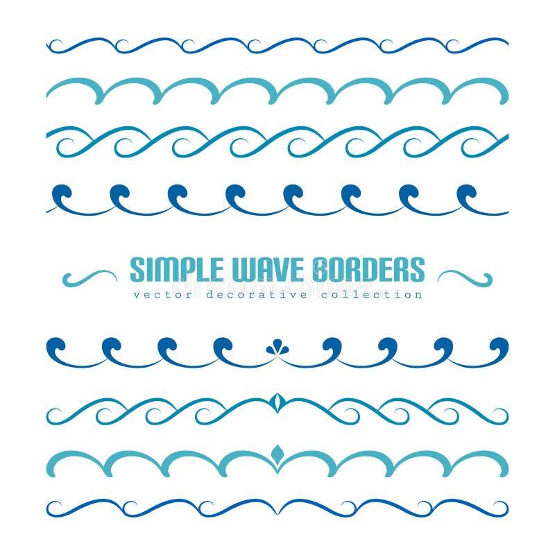 套波浪边界装饰品和华丽 库存例证