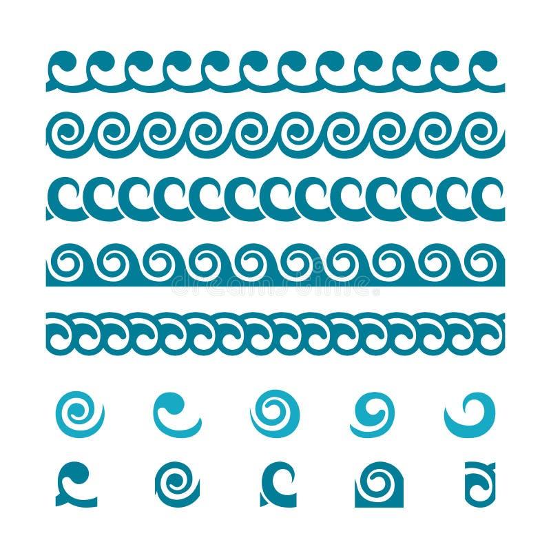 套波浪边界装饰品 库存例证