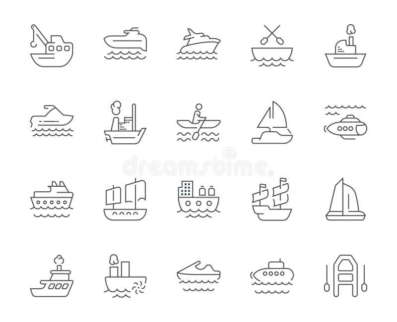 套海上运输简单的象  向量例证