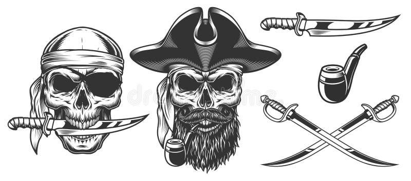 套海盗 向量例证
