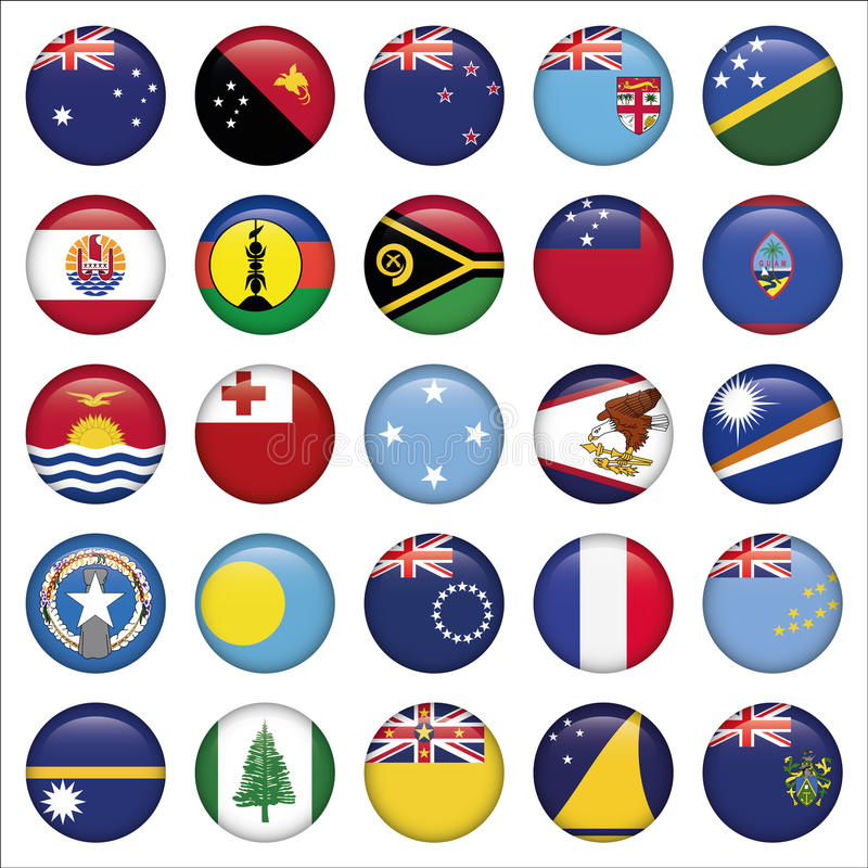 套澳大利亚人,大洋洲圆的旗子象 皇族释放例证
