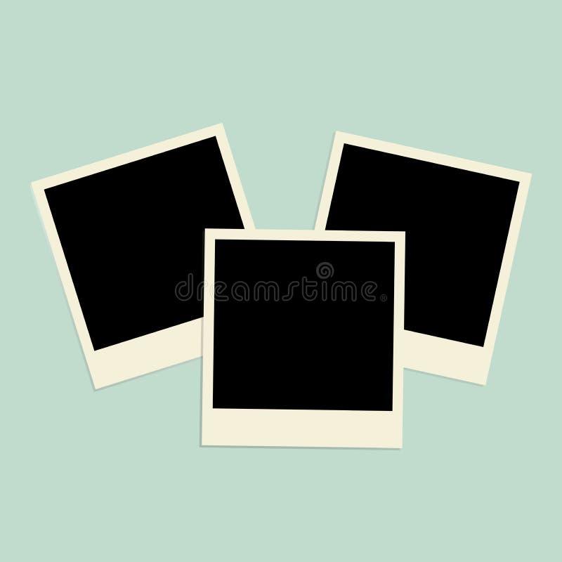 套照片(框架) 传染媒介例证photoframes 免版税库存图片