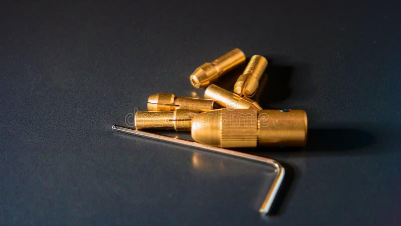 套爪卡盘黄铜宝石座适合 库存图片