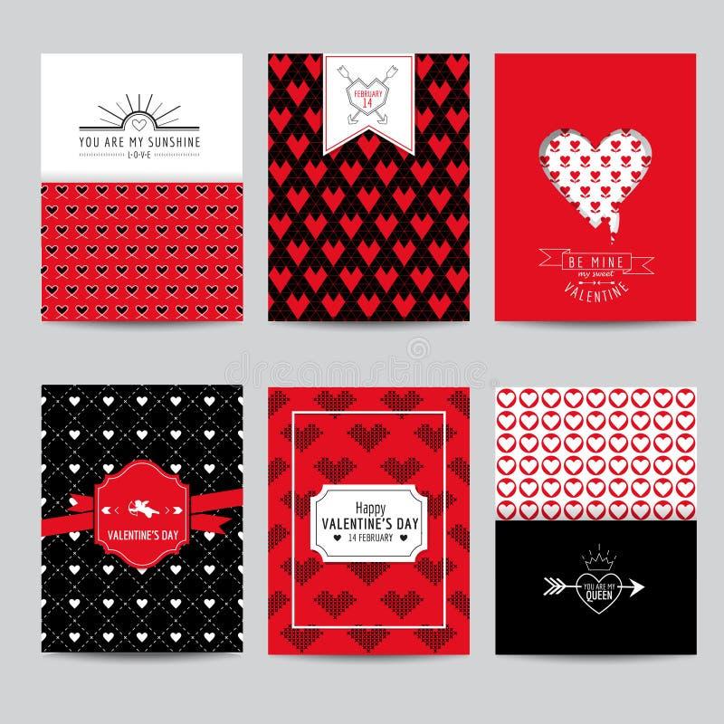 套爱卡片-婚礼,情人节 向量例证