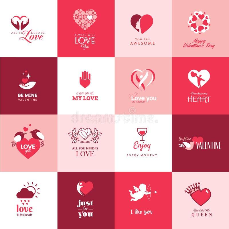 套爱和浪漫象为情人节 库存例证