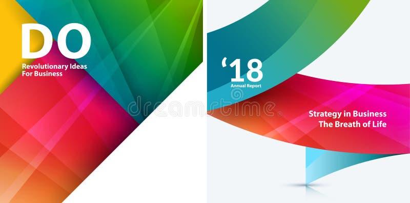 套物质设计摘要模板 与五颜六色的三角的创造性的现代企业背景 向量例证