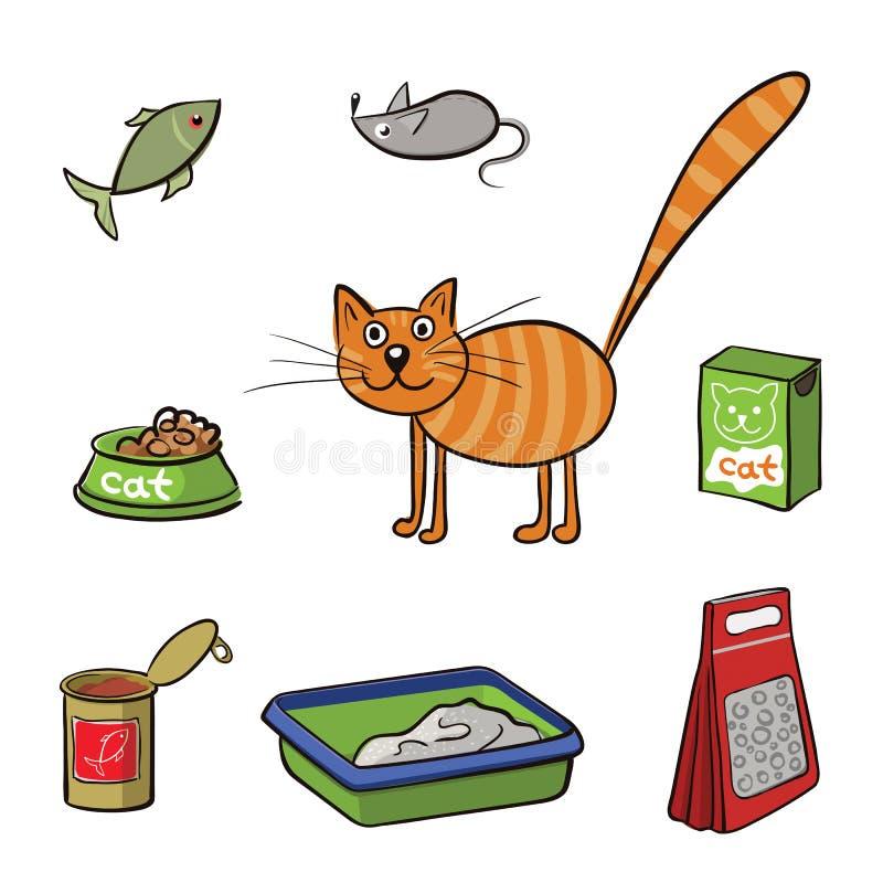 套猫的产品 也corel凹道例证向量 皇族释放例证