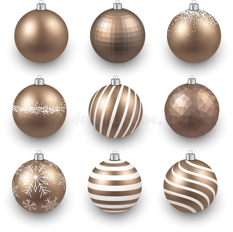 Download 套现实金子圣诞节球 向量例证. 插画 包括有 空白, 来回, 向量, 可实现, 玻璃, 装饰, 特写镜头 - 62539071