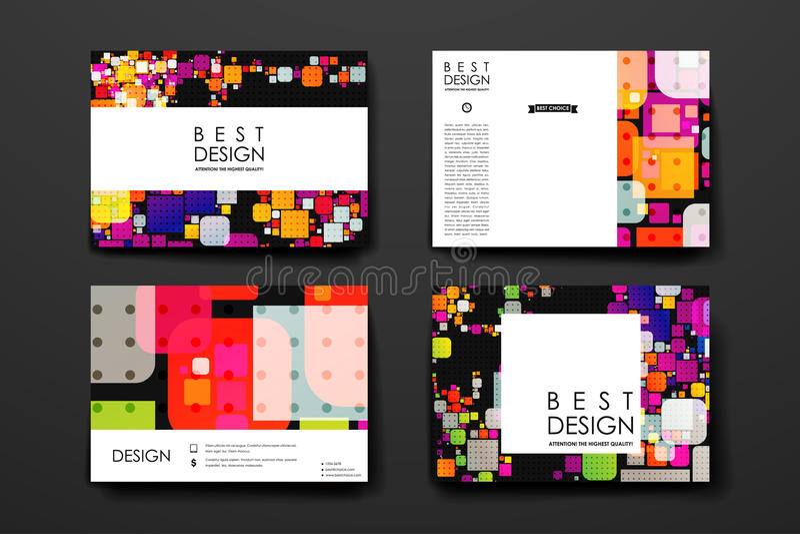 Download 套现代设计在抽象背景样式的横幅模板 向量例证. 插画 包括有 创造性, 五颜六色, 样式, 装饰, 看板卡 - 72351211