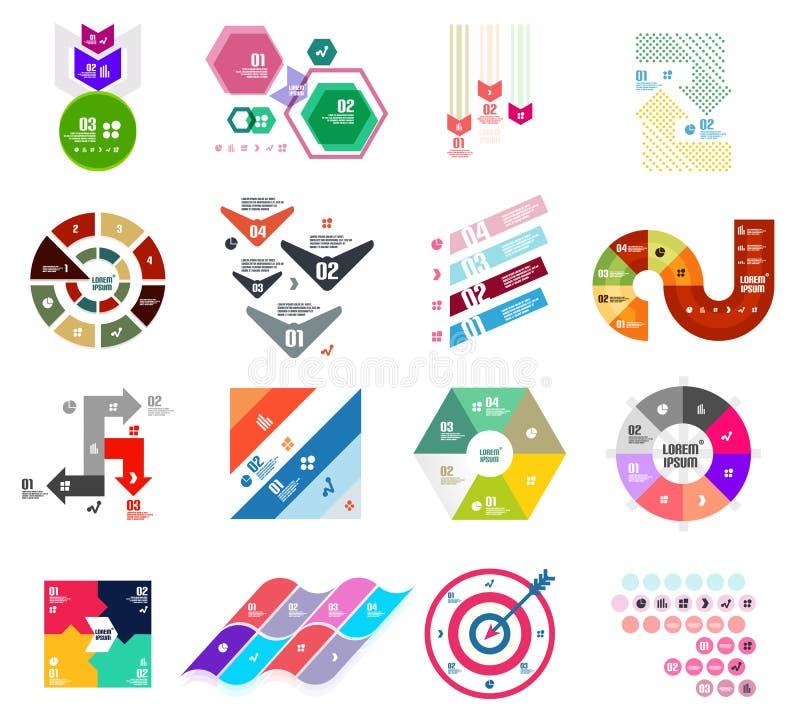 套现代infographic设计模板 皇族释放例证