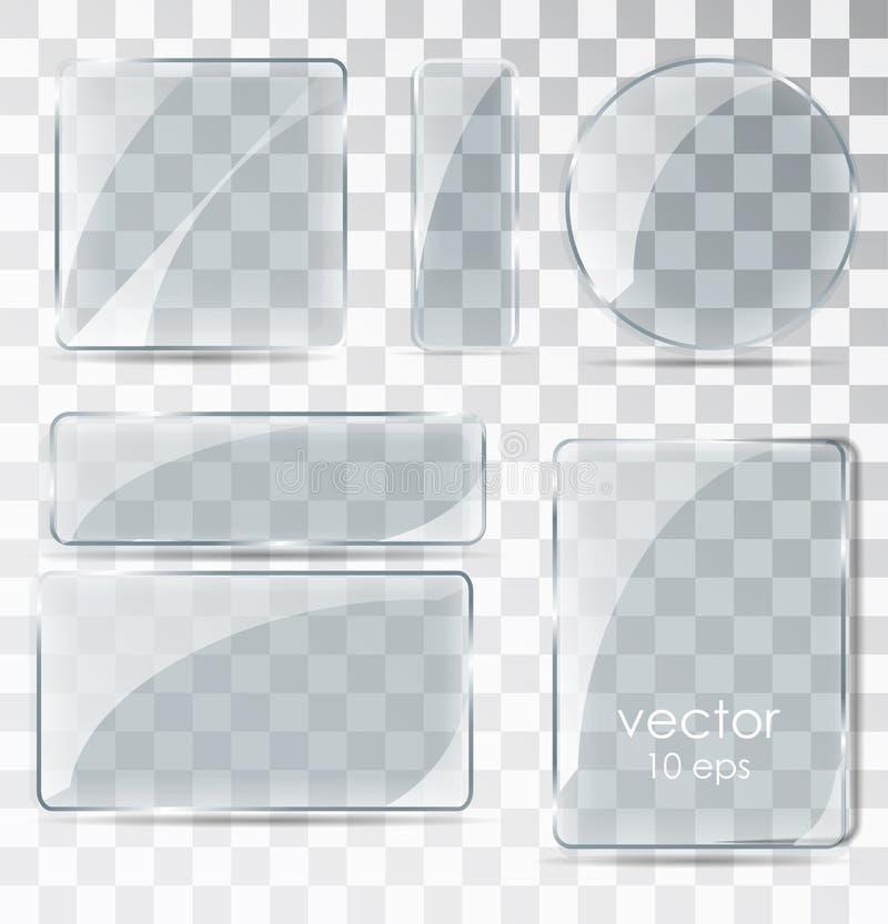 套玻璃板 与强光的平面镜 库存照片