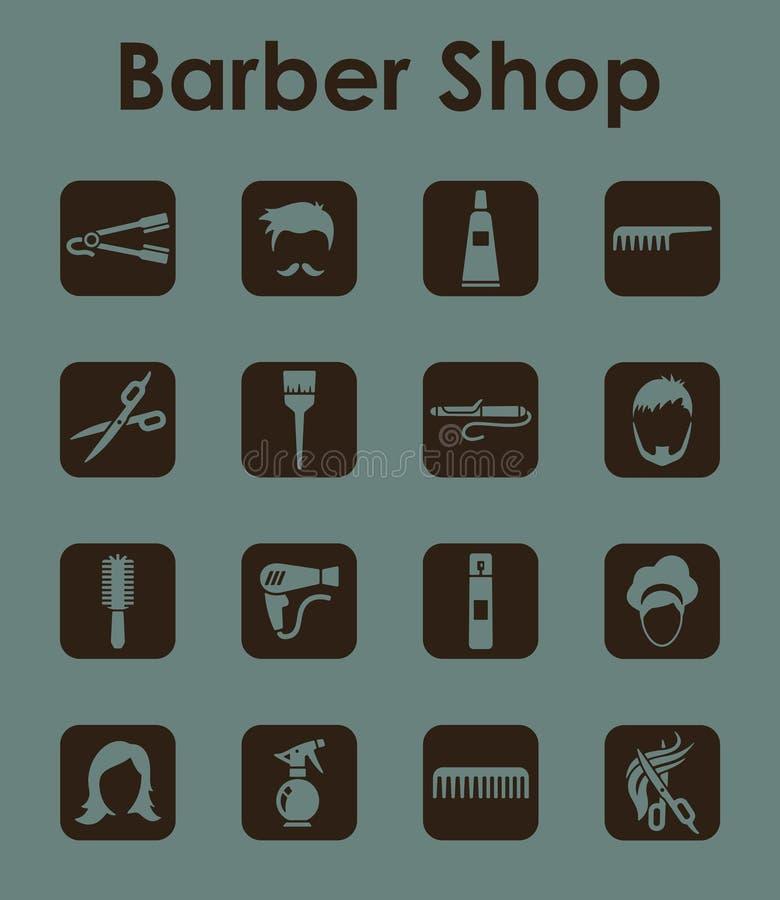 套理发店简单的象 向量例证