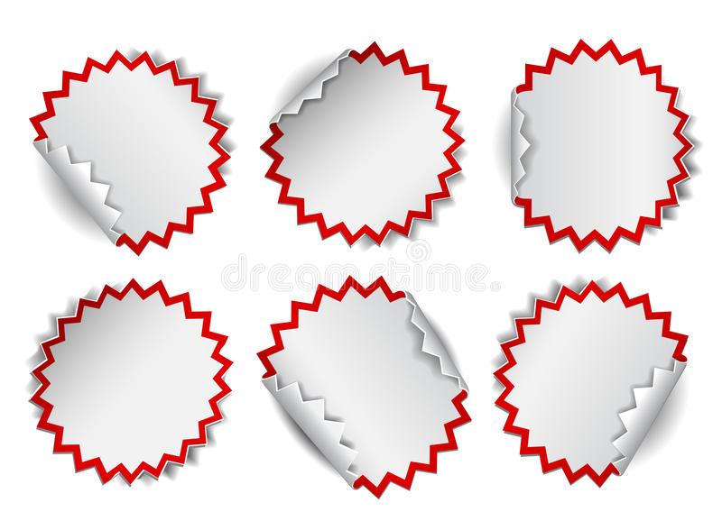 套白色圆的增进贴纸 皇族释放例证