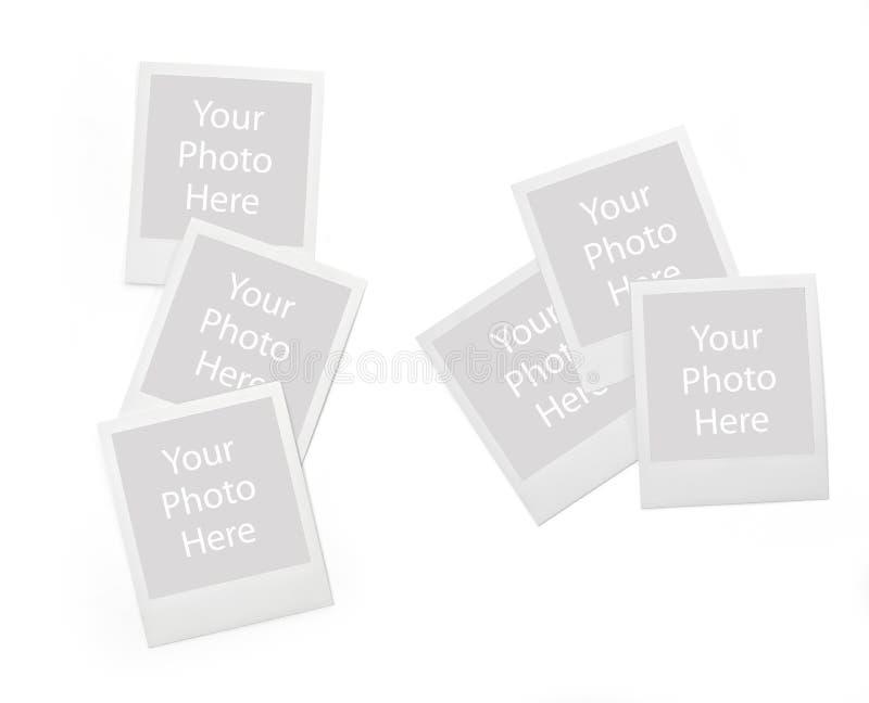 套短暂照片框架 免版税库存照片