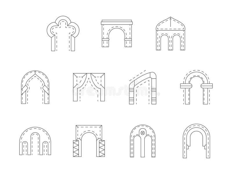 套石拱道平的线象 皇族释放例证