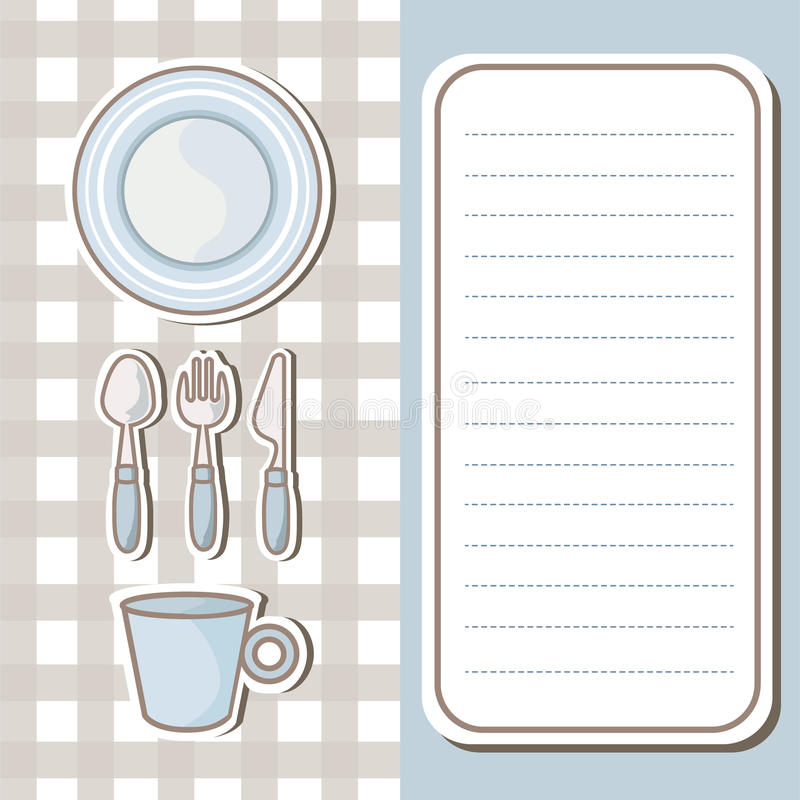 Download 套碗筷有便条纸背景 向量例证. 插画 包括有 动画片, 匙子, 菜单, 刀子, 饮料, 咖啡, 背包, 工具 - 30330070