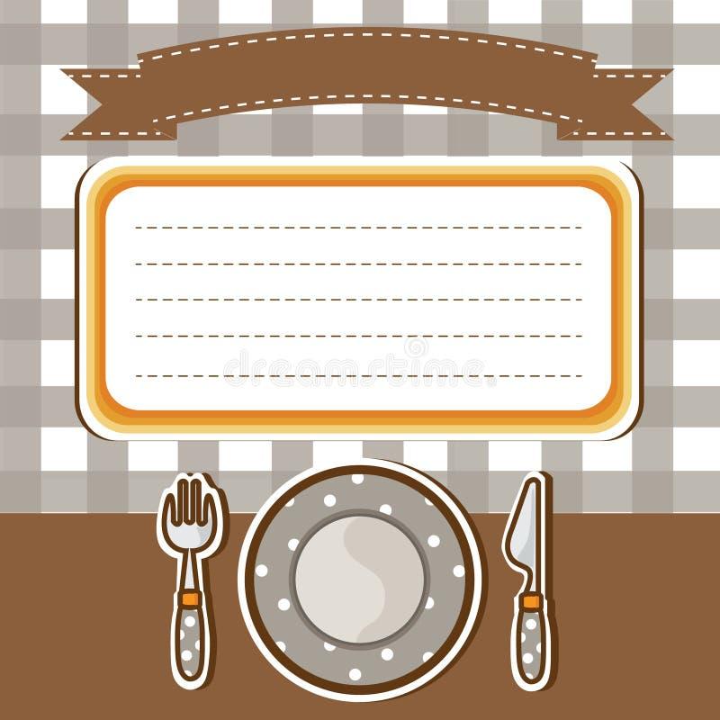 Download 套碗筷有便条纸背景 向量例证. 插画 包括有 工具, 餐馆, 菜单, 午餐, ,并且, 附注, 动画片, 牌照 - 30330073