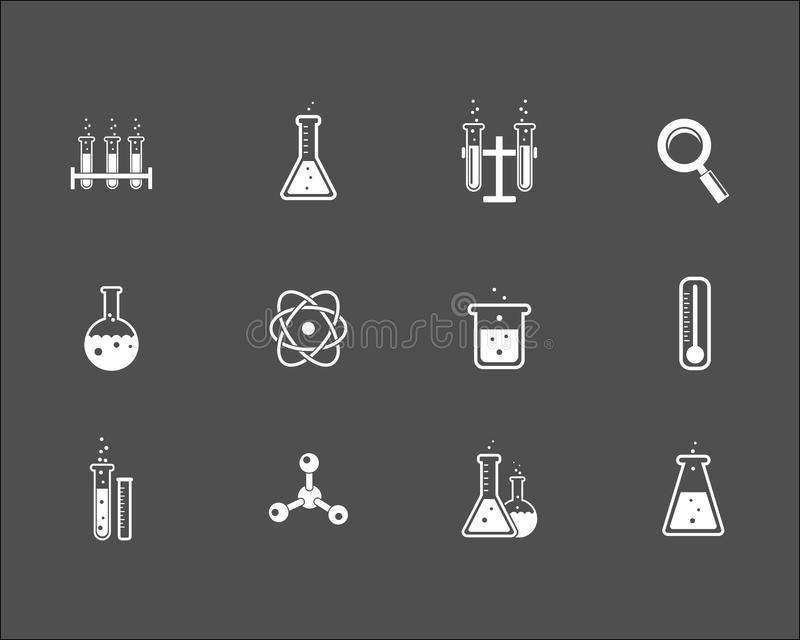套科学和研究象 向量例证