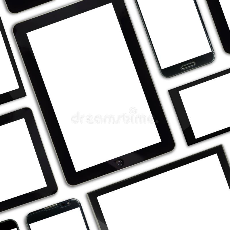 套空白的模板数字式设备 向量例证