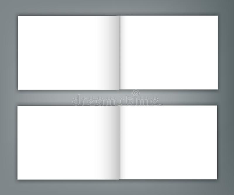 套空白的编目风景小册子大模型盖子模板 库存例证