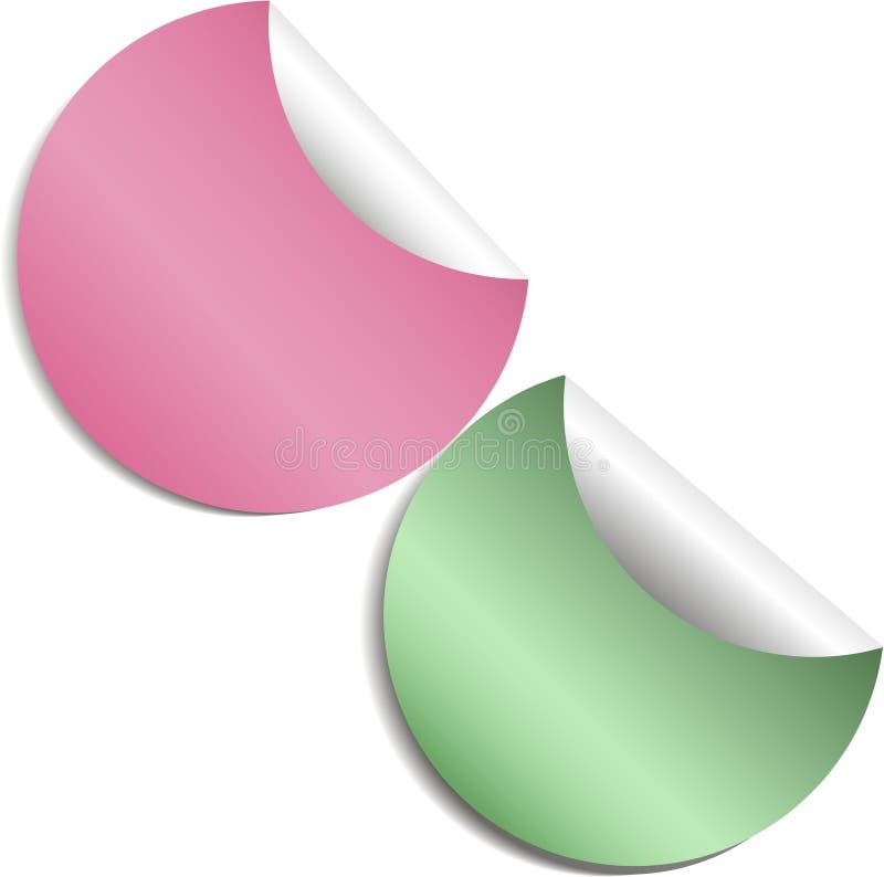 套空白色的贴纸 空的增进标签 也corel凹道例证向量 颜色圆的圈子标记 皇族释放例证