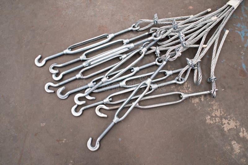 套筒螺母和导线 库存照片