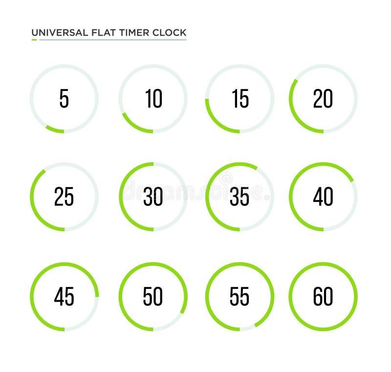 套简单的定时器 向量例证