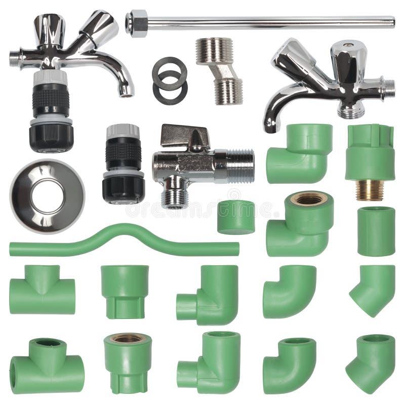 套管子,适配器,测量深度的起重机 免版税库存照片