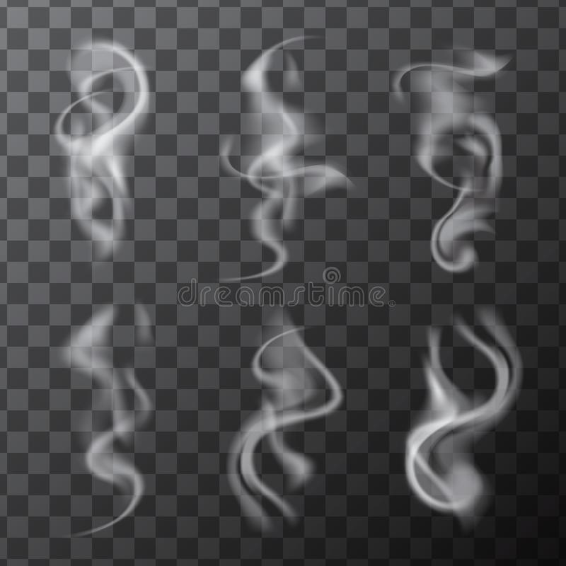 套精美现实香烟烟波浪 库存例证