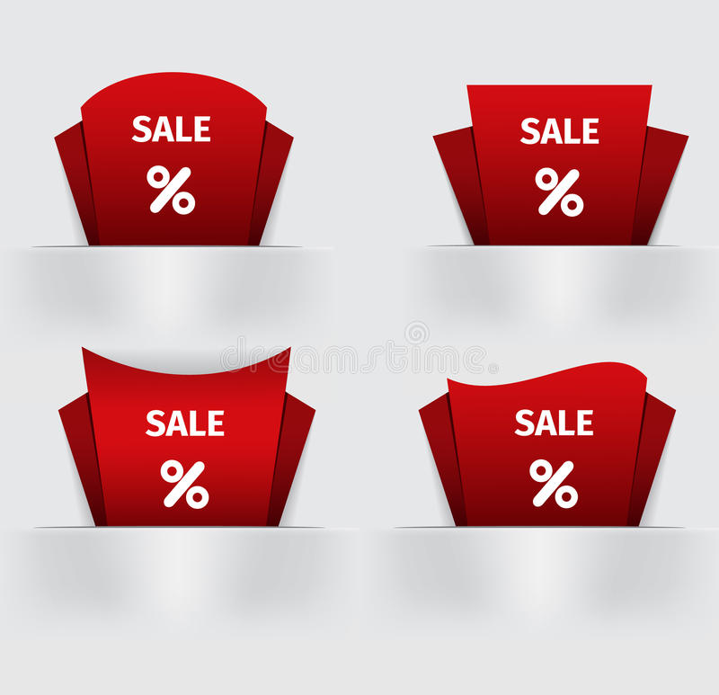 套红色销售百分之价目表价格标记 库存例证