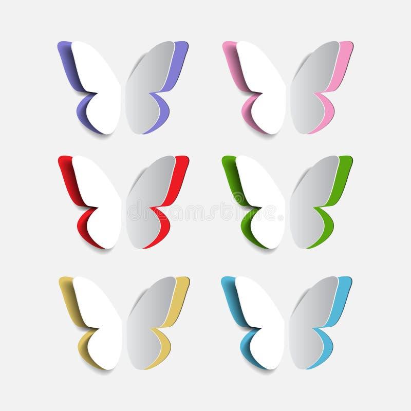 套纸origami蝴蝶 向量例证