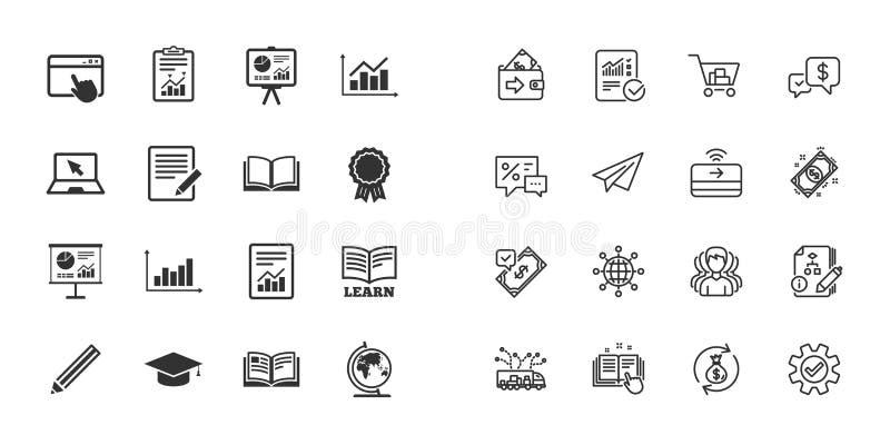 套统计、教育和研究象 向量 库存例证