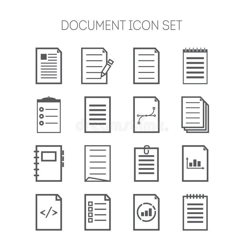 套网络设计、站点、应用、事务和贴纸的简单的文件象 向量例证