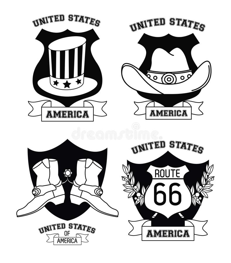 套美国象征 向量例证